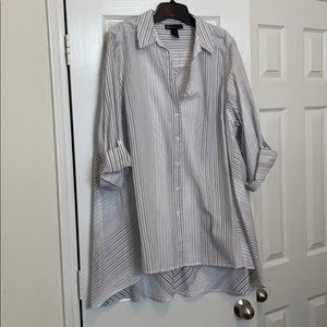 Button down tunic length
